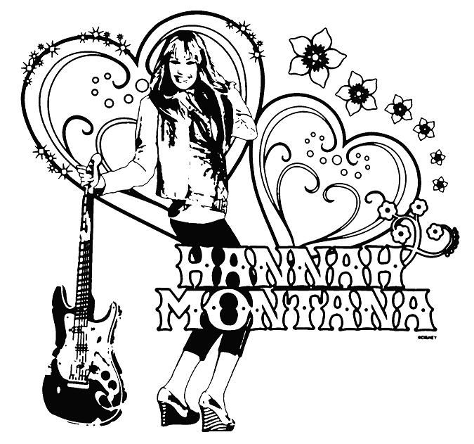 printable hannah montana coloring pages - photo#3