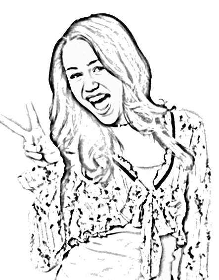 hannah montanta coloring pages - photo#31