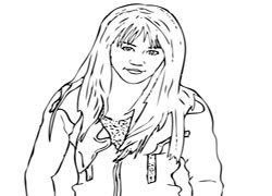 free hanna montana coloring pages | Hannah Montana Coloring Pages