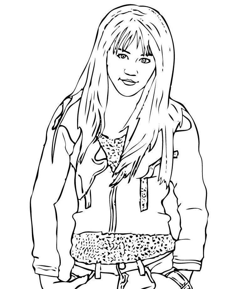 printable hannah montana coloring pages - photo#9